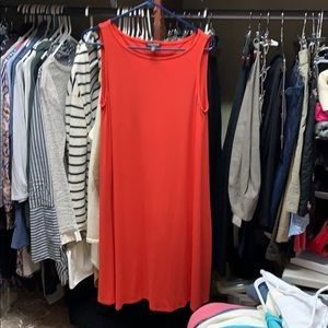 Eileen fisher dress- multi seasonal, vibrant coral